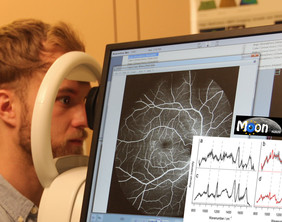 The research team is building a device for a non-invasive examination of the eyes. //Photo: Ewald Unger/ Medical University of Vienna